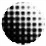 Abstrakt geometrisk svartvit tryckhalvton för grafisk design Arkivbild