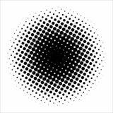 Abstrakt geometrisk svartvit tryckhalvton för grafisk design Arkivfoto