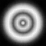 Abstrakt geometrisk svartvit tryckhalvton för grafisk design Royaltyfri Foto