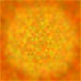 Abstrakt geometrisk triangulär modell med suddigt Royaltyfri Foto