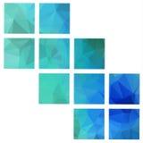 Abstrakt geometriska bakgrunder Vektor Illustrationer