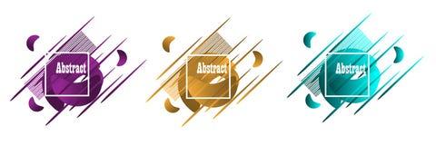 abstrakt geometriska former Baner för vätskelutning som isoleras på vit Vätskevektorbakgrund arkivfoto