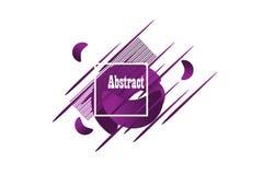 abstrakt geometriska former Baner för vätskelutning som isoleras på vit Vätskevektorbakgrund stock illustrationer