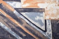 Abstrakt geometriskt färgrikt tryck Arkivbild