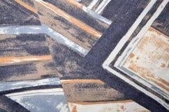 Abstrakt geometriskt färgrikt tryck Royaltyfri Foto