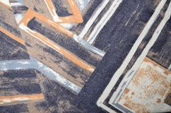 Abstrakt geometriskt färgrikt tryck Royaltyfri Bild