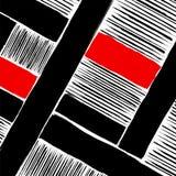 Abstrakt geometriskt konstverk, slår och fodrar stock illustrationer