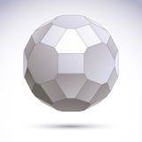 Abstrakt geometriskt objekt 3D, modern digital teknologi och scie vektor illustrationer