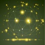 Abstrakt geometriskt objekt för ingrepp 3D, modernt digitalt Royaltyfria Bilder