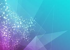 Abstrakt geometriskt och blått med ingreppsbakgrund illustration Fotografering för Bildbyråer