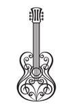Abstrakt gitarr Arkivfoton