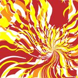 4 abstrakt gjorda bakgrundsbrandbilder Royaltyfri Bild