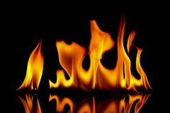 4 abstrakt gjorda bakgrundsbrandbilder svart brand för bakgrund Arkivfoto