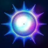 Abstrakt glänsande form för sol för neonljus Royaltyfri Fotografi