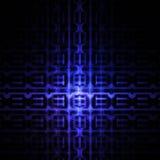 Abstrakt glödande detaljerad geometrisk prydnad på svart bakgrund Royaltyfri Bild