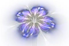 Abstrakt glödande färgrik blomma på vit bakgrund Arkivfoto