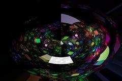Abstrakt glödande modell för design för digital för fractalvetenskap fantastisk fantasi för flamma dynamisk härlig stock illustrationer