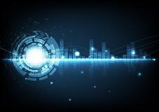 Abstrakt gl för utjämnare för modern musik för digital teknologi för bakgrund stock illustrationer