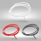 Abstrakt glansigt anförande bubblar stock illustrationer