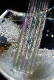 abstrakt glass sugrörvase Arkivfoton