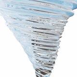 Abstrakt glass tromb som isoleras på vit bakgrund, tolkning 3D royaltyfri illustrationer
