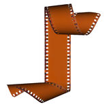 abstrakt glidbana för filmram Arkivbild