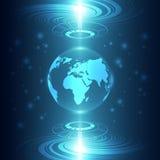 Abstrakt global framtida teknologibakgrund, vektorillustration Arkivbild