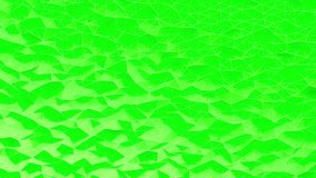 Abstrakt gräsplan kristalliserad polygonal bakgrund Vågrörelse på polygonal yttersida med tunna linjer vektor illustrationer