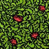 Abstrakt gräsplan och röd sömlös modell med Royaltyfri Foto