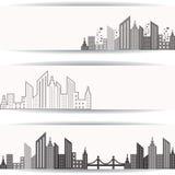 Abstrakt grå fastighetdesign för websitebaner Royaltyfri Fotografi