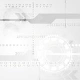 Abstrakt grå tekniktechbakgrund Royaltyfri Bild