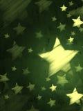 Abstrakt grön bakgrund med randiga stjärnor, lodlinje Arkivbilder