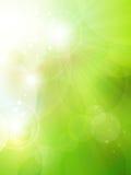 Abstrakt grön bokehbakgrund royaltyfri illustrationer