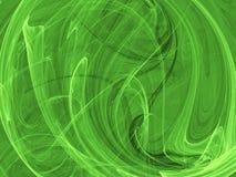 abstrakt grön form royaltyfri illustrationer