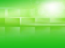 Abstrakt grön glödbakgrund vektor illustrationer