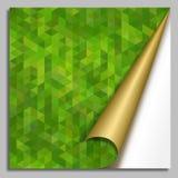 Abstrakt grön mosaikbakgrund Fotografering för Bildbyråer