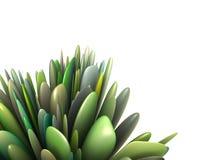 abstrakt grön multiplemodell för leaf 3d Royaltyfria Foton
