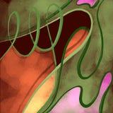 Abstrakt grön orange bakgrund Arkivfoton