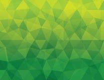 Abstrakt grön Polygonal geometrisk bakgrundspatt Fotografering för Bildbyråer