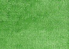 Abstrakt grön textilhandduktextur Royaltyfria Foton