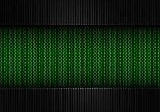 Abstrakt grön texturerad materiell design för kol fiber Royaltyfri Fotografi