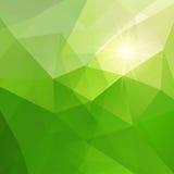Abstrakt grön triangelbakgrund Royaltyfri Foto