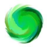 Abstrakt grön vattenfärgform Royaltyfri Bild