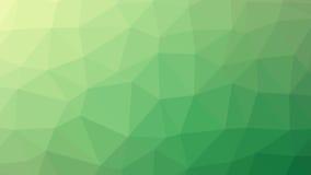 Abstrakt grön vektorlutning lowploly av bakgrund för många trianglar för bruk i design Arkivfoto