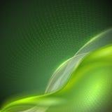 Abstrakt grön vinkande bakgrund Arkivfoto