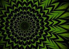 Abstrakt grönskabakgrund, palmblad med kalejdoskopeffe Royaltyfri Fotografi