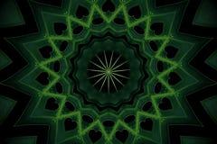 Abstrakt grönskabakgrund, philodendronsidor med kalejdoskopeffekt Fotografering för Bildbyråer