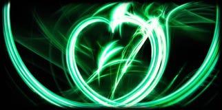 Abstrakt grönt äpple Arkivfoto