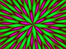 abstrakt grönt hypnotiskt Arkivfoton