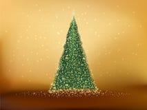 Abstrakt grönt julträd. EPS 10 Royaltyfri Bild